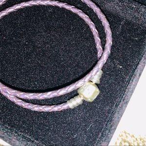 Pandora Jewelry - Authentic Purple Leather Pandora Bracelet NO BOX